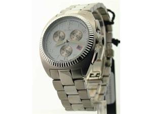 Mens Croton Steel Chrono 3 Eye Date Watch CC311293SDW
