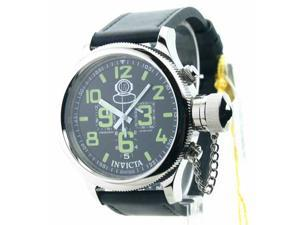 Mens Invicta Leather Russian Diver Chrono Swiss Date Watch 7000