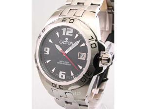 Mens Croton Steel Swiss 10 Atm Date New Watch CA301149SSBK