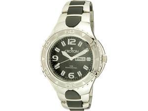 Croton Mens Stainless Steel Super C Day Date Watch CA301197SSBK