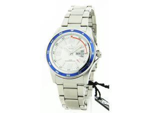 Mens Croton Stainless Steel Day Date Watch CN307384BLDW