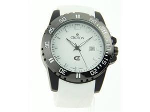 Croton Mens Sports Quartz Date White Rubber Strap Watch CX328010WSWH