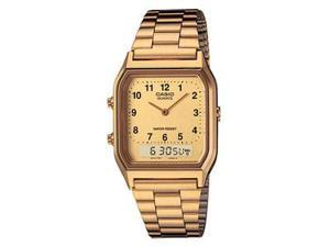Casio AQ230GA-9B Gold Digital Analog Mens Watch