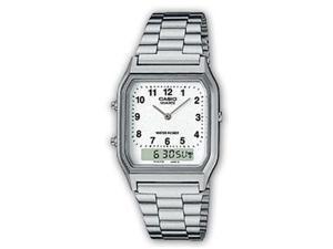 Casio AQ230A-7B Silver Digital Analog Mens Watch
