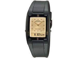 Casio AQ47-9E Men's Classic Analog & Digital Water Resistant Watch w/ Gold Face