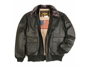 Landing Leathers Men's Navy G-1 Leather Flight Bomber Jacket