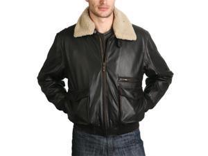 BGSD Men's Aviator Leather Bomber Jacket - Regular, Tall, Big, Big & Tall
