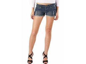 Jessie G. Women's Low Rise Destructed Denim Short Shorts - 10
