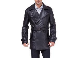 "BGSD Men's ""Damian"" New Zealand Lambskin Leather Trench Coat"