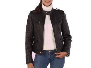 BGSD Women's Quilted Lambskin Leather Motorcycle Jacket
