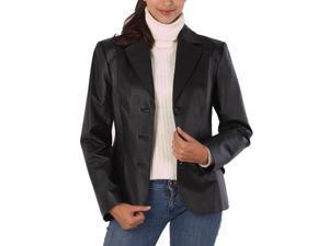 """BGSD Women's """"Tammy"""" New Zealand Lambskin Leather Blazer"""