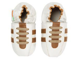 Momo Baby Infant/Toddler Soft Sole Leather Shoes - Tennis Shoe Brown