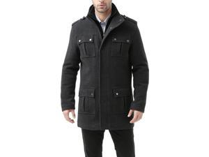 BGSD Men's 'David' Wool Blend Military Jacket