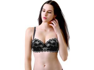 Phistic Women's Sheer Elegance Floral Embroidered Padded Bra