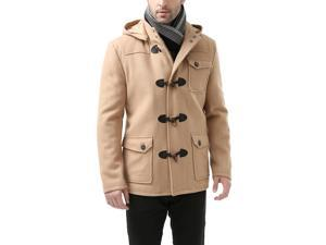 BGSD Men's 'Nathan' Wool Blend Patch Pocket Short Toggle Coat