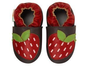 Momo Baby Infant/Toddler Soft Sole Leather Shoes - Strawberries Red
