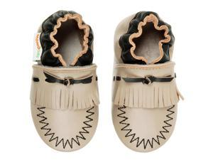 Momo Baby Infant/Toddler Soft Sole Leather Shoes - Moccasin Taupe