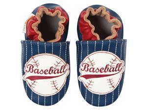 Momo Baby Infant/Toddler Soft Sole Leather Shoes - Baseball Navy