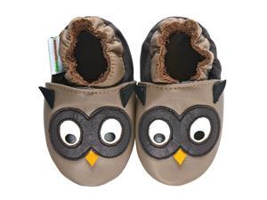 Momo Baby Infant/Toddler Soft Sole Leather Shoes - Owl Taupe