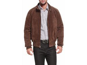 Landing Leathers Men's WWII Suede Leather Raglan Sleeve Bomber Jacket - Brown XL
