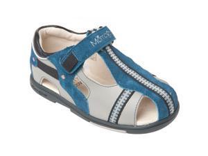 Momo Grow Boys Cross-Strap Leather Sandal Shoes