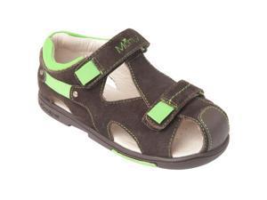 Momo Grow Boys Double-Strap Leather Sandal Shoes