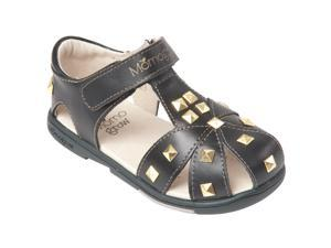 Momo Grow Girls Studded Leather Sandal Shoes