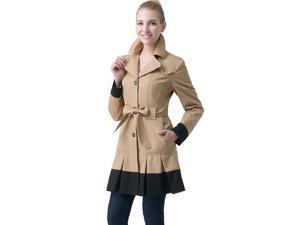"BGSD Women's ""Lindsey"" Colorblock Trench Coat"