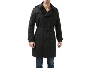 """BGSD Men's """"Anthony"""" Classic Double Breasted Trench Coat"""