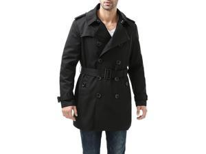 """BGSD Men's """"Cameron"""" Double Breasted Mid Length Trench Coat"""