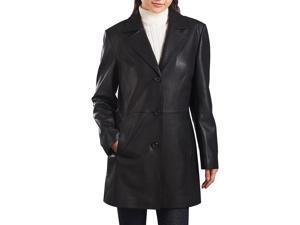 "BGSD Women's ""Danielle"" New Zealand Lambskin Leather Walking Coat"