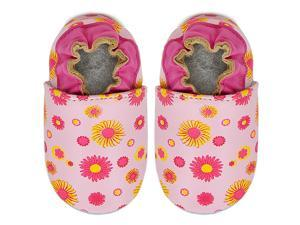 Kimi + Kai Kids Soft Sole Leather Crib Bootie Shoes - Flower Power