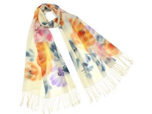 Dahlia Women's Wool Blend Scarf - Chinese Peony Blooming
