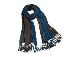 Dahlia SF0044VSM-TL Men's Triple Color Layer Fringed Scrunch Long Scarf - 100% Viscose