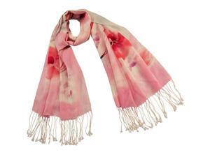 Dahlia Women's 100% Merino Wool Pashmina Scarf - Peach Blossom - Pink