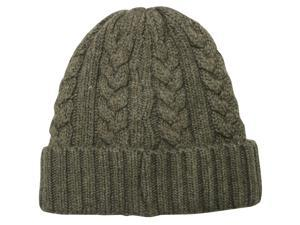 Men's Cable Knit Solid Color Beanie Hat - Khaki
