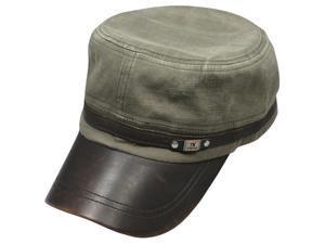 Men's Fashionable Denim Dyed Style Cotton Adjustable Cap - Gray Green