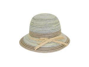 Colorful Striped Braid Bow Bucket Hat - Yellow