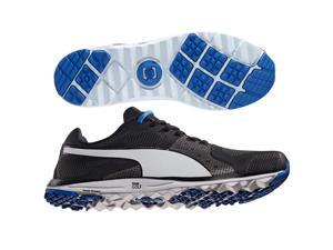 PUMA FAAS Xlite Golf Shoes 18758601 Black/White/Blue Medium 9.5 NEW