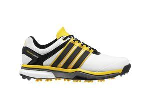 Adidas Adipower Boost Golf Shoes White/Black/Yellow Medium 9.5 CLOSEOUT NEW