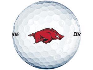 2015 Bridgestone NCAA Collegiate e6 Golf Balls 1 Dozen Arkansas White NEW