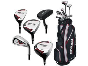 Callaway Strata Full Set RH 9 Clubs + 1 Stand Bag 406015612077 NEW