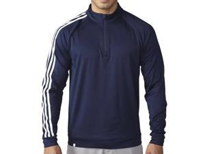 2016 Adidas 3 Stripes 1/4 Zip Layering Golf Jacket Navy Small NEW