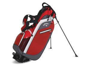 2016 Callaway Hyper-Lite 3 Double Stand Bag Red/Charcoal/White NEW