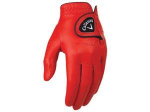 2016 Callaway Opti Color Red Golf Gloves LH Regular Medium NEW