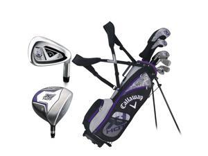 Callaway XJ Hot Full Set Ages 9-12 Junior Girls RH #7 Clubs + 1 Stand Bag NEW