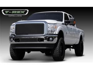 T-REX 2011-2012 Ford Super Duty Upper Class Mesh Grille - W/ Optional Logo Plate - All Black Powdercoat BLACK 51546