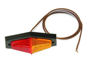 Bargman 40-40-004 Fender Mount Clearance Light No. 40 Red, Amber With Lexan Black Base And Screws