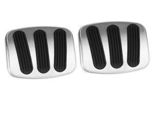 Lokar BAG-6185 Billet Aluminum Curved Brake/Clutch Pedal Pad Fits 66-77 Bronco