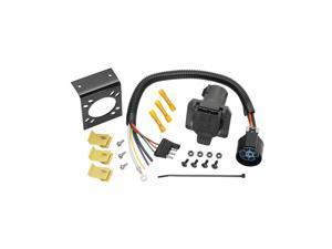 20125 Tow Ready 4-Flat to 7-Way Flat Pin U.S. Car Connector Adapter